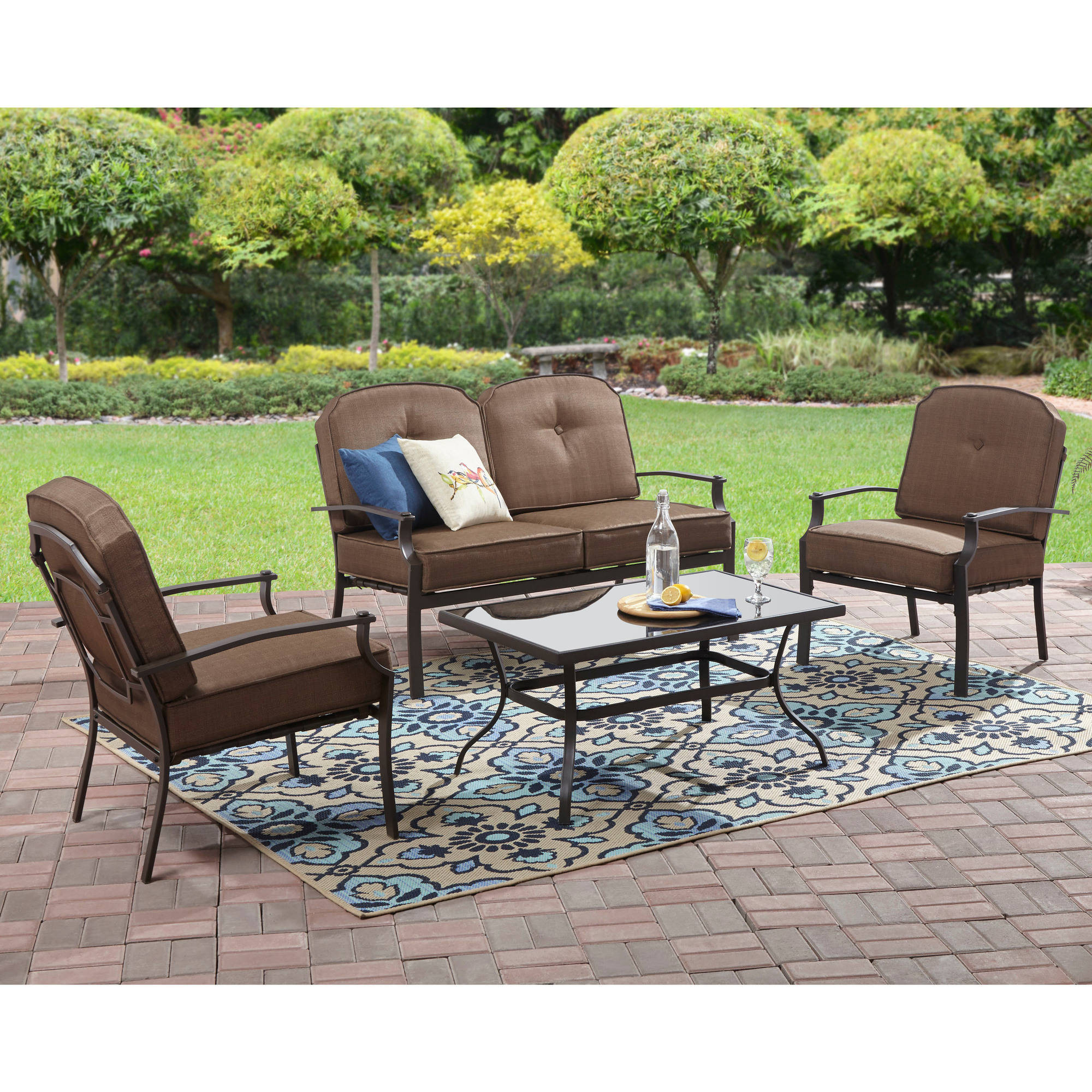 Best ideas about Walmart Patio Furniture . Save or Pin Mainstays Wentworth 3 Piece High Outdoor Bistro Set Seats Now.