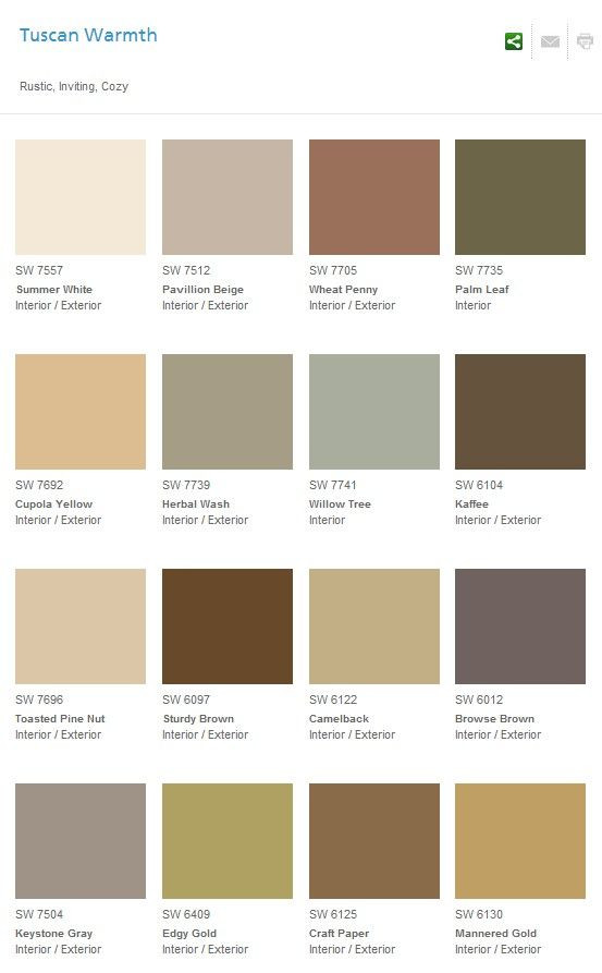 Best ideas about Warm Paint Colors . Save or Pin Colores Sherwin Williams Tuscan warmth Cuppola Yellow Now.