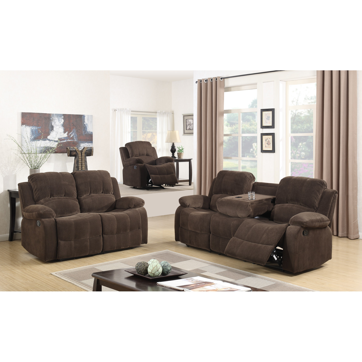 Best ideas about Wayfair Living Room Furniture . Save or Pin Best Quality Furniture Fabric 3 Piece Recliner Living Room Now.