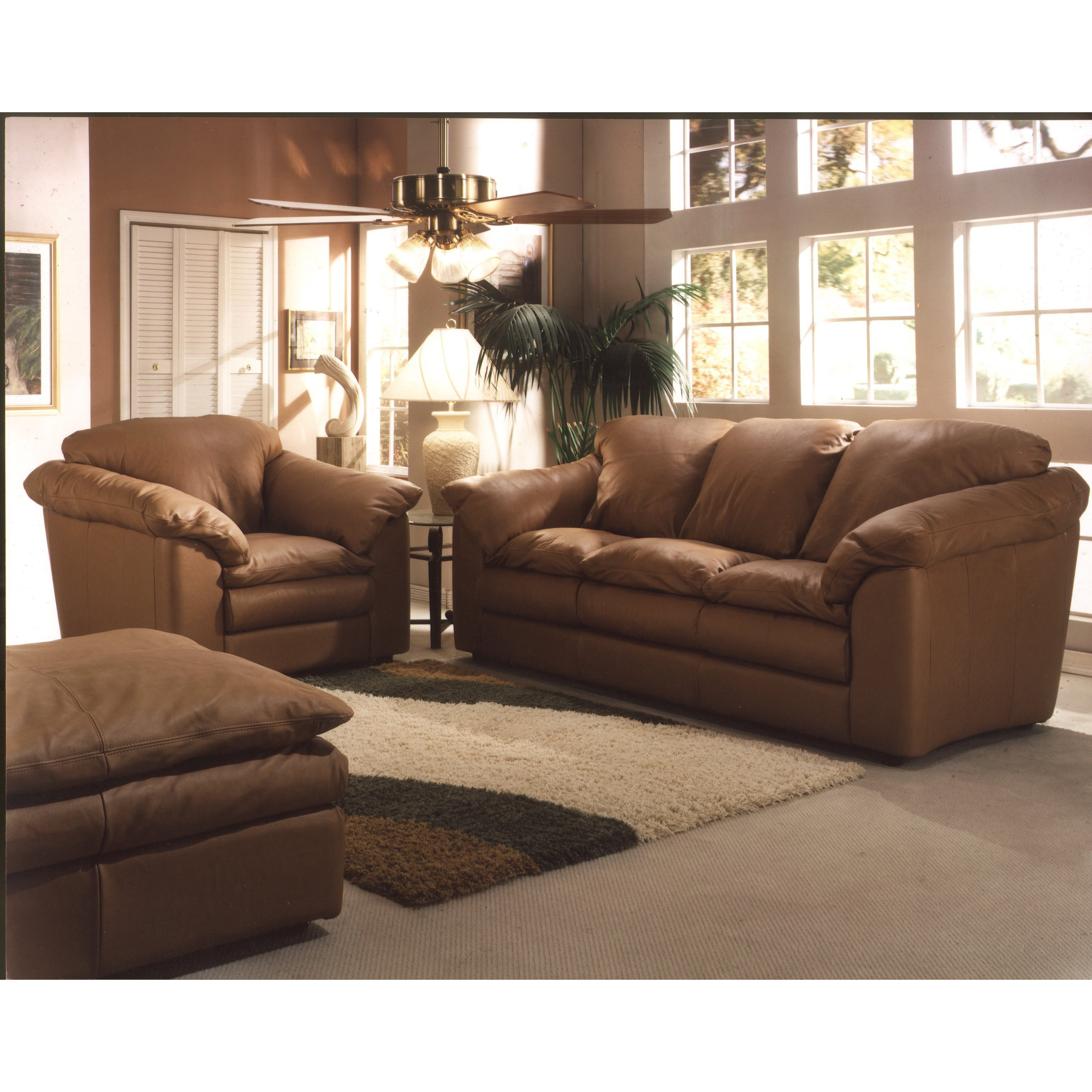 Best ideas about Wayfair Living Room Furniture . Save or Pin Omnia Leather Oregon 3 Seat Leather Living Room Set Now.