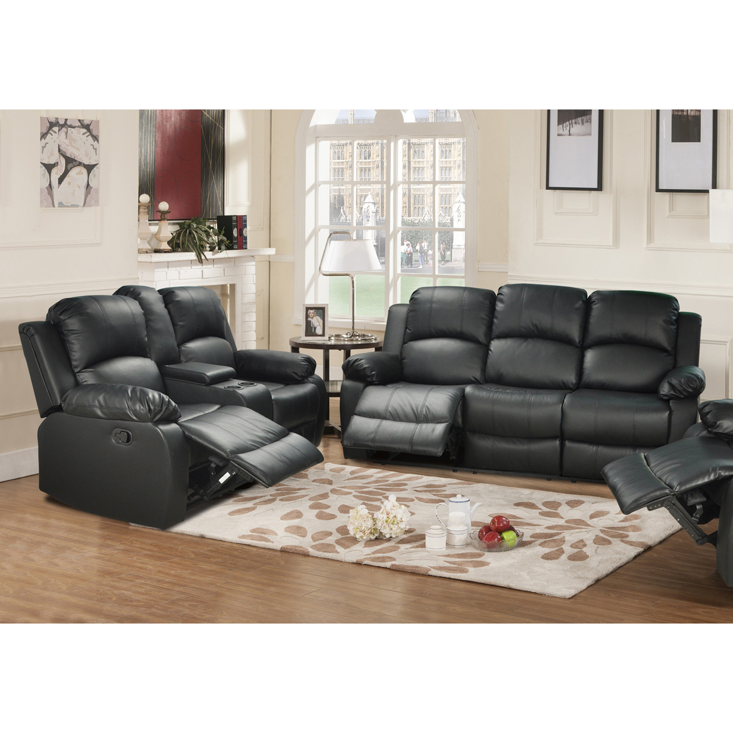 Best ideas about Wayfair Living Room Furniture . Save or Pin Beverly Fine Furniture Amado 2 Piece Leather Reclining Now.
