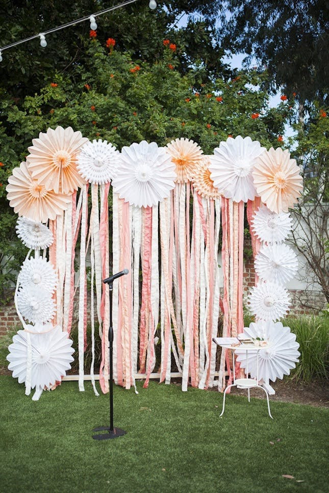 Best ideas about Wedding Backdrop DIY . Save or Pin 20 DIY Paper Wedding Backdrops Now.