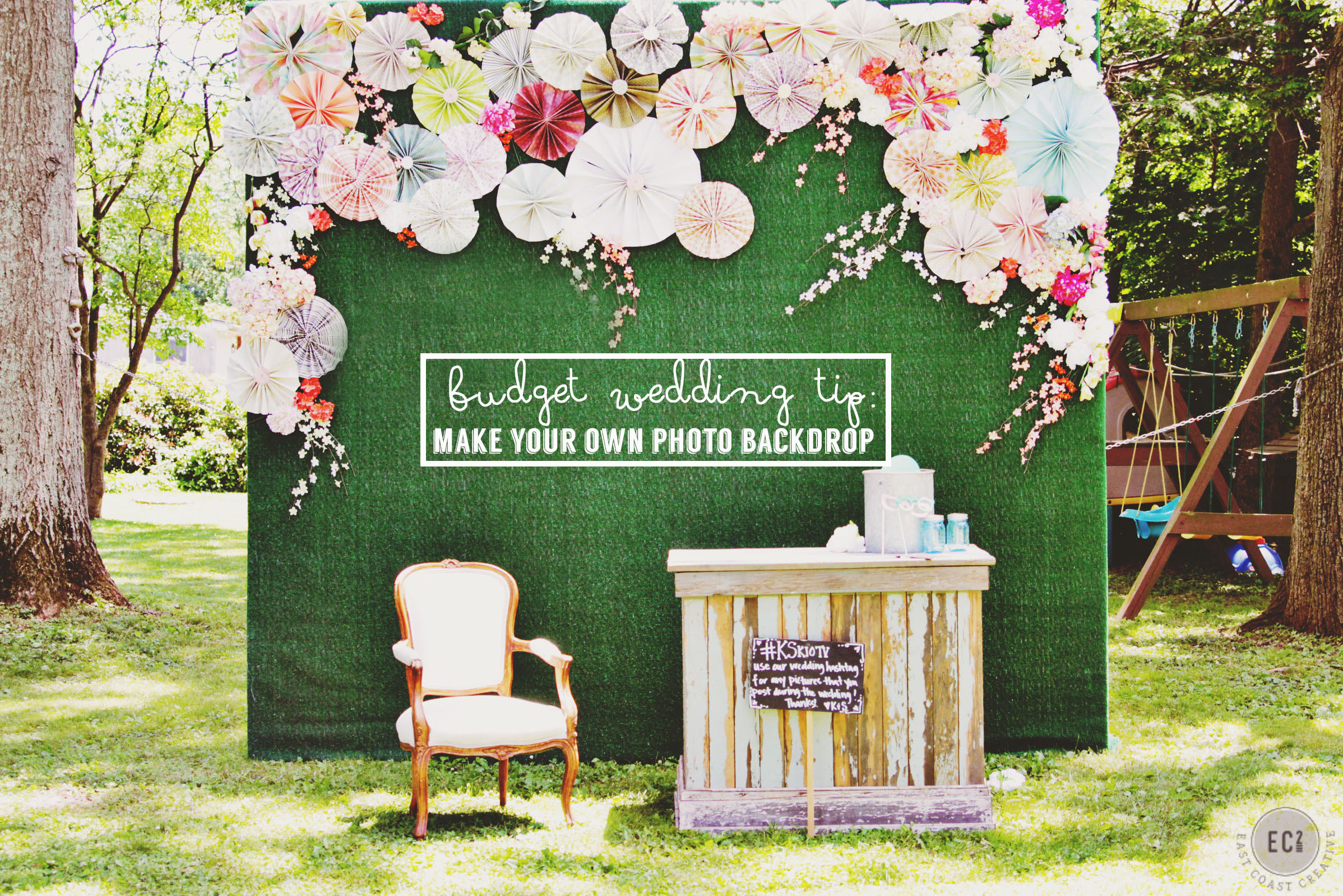 """Best ideas about Wedding Backdrop DIY . Save or Pin DIY Booth Backdrop – """"Knock It f """" Wedding Now."""