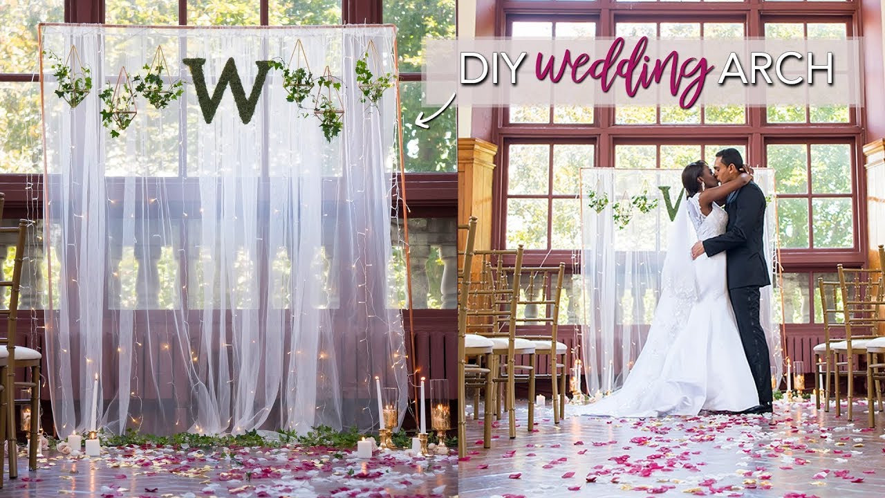 Best ideas about Wedding Backdrop DIY . Save or Pin DIY Wedding Ceremony Backdrop EASY & No Tools Required Now.