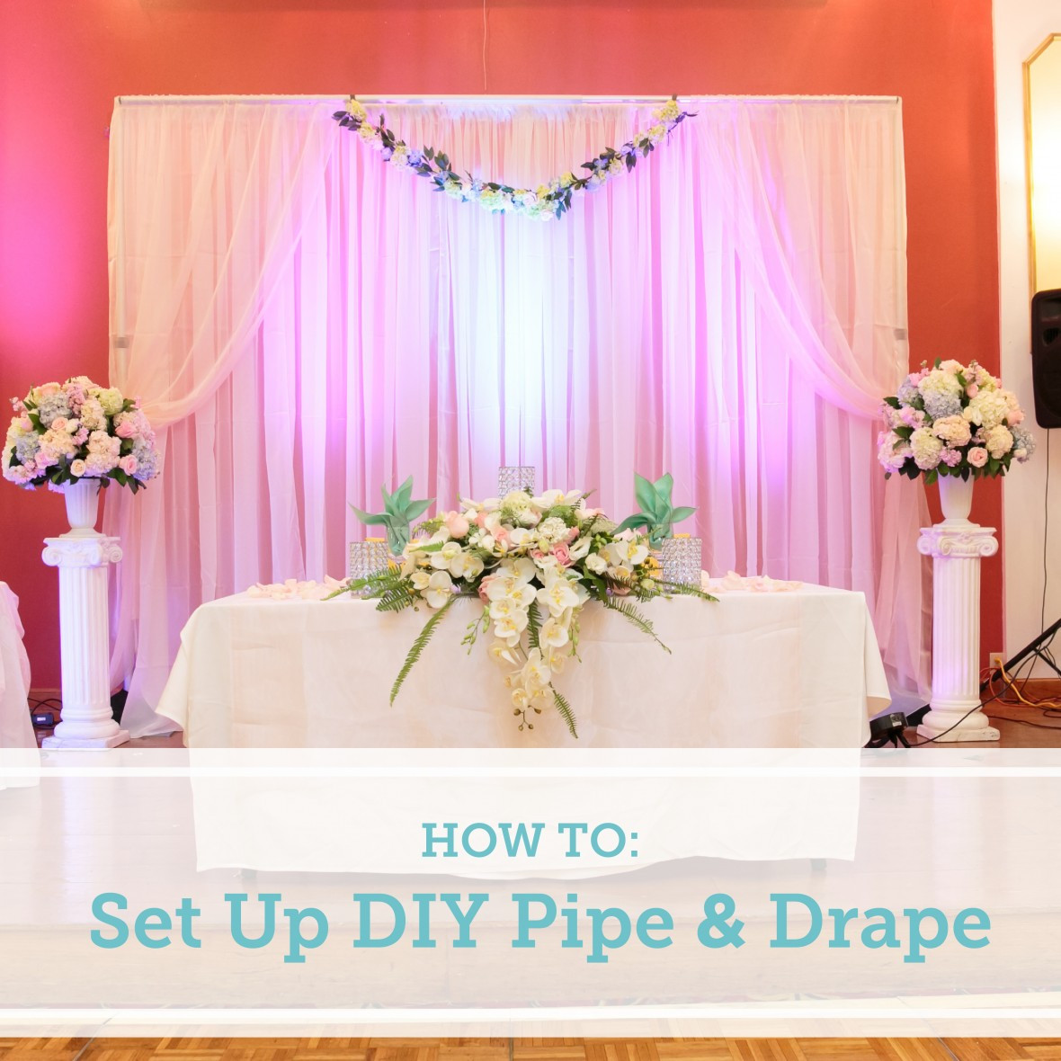 Best ideas about Wedding Backdrop Ideas DIY . Save or Pin How To Set Up a DIY Wedding Backdrop Now.