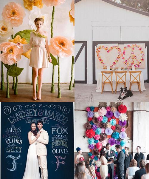 Best ideas about Wedding Backdrop Ideas DIY . Save or Pin 20 Great DIY Wedding Backdrop Ideas – Design Sponge Now.