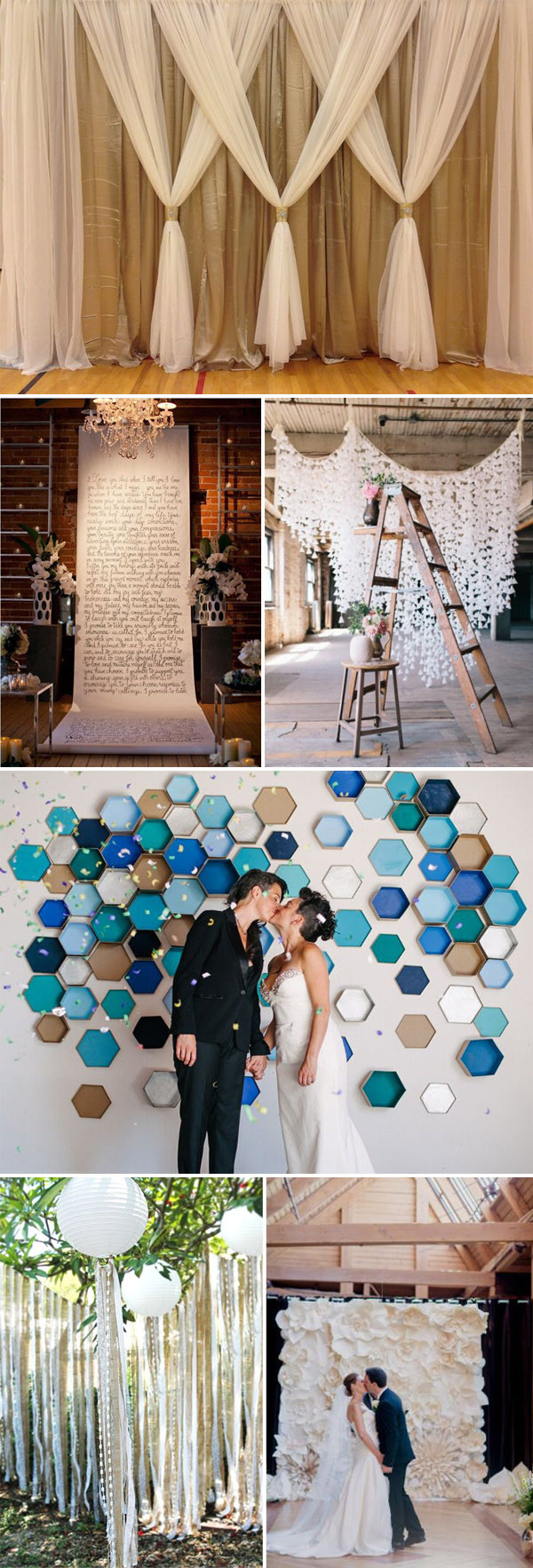 Best ideas about Wedding Backdrop Ideas DIY . Save or Pin Top 20 Unique Backdrops For Wedding Ceremony Ideas Now.