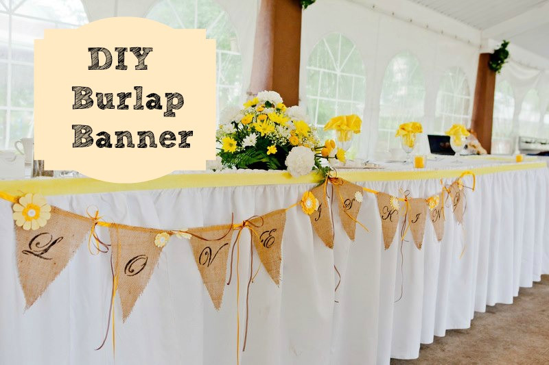 Best ideas about Wedding Banners DIY . Save or Pin A burlap wedding banner Debbiedoo s Now.