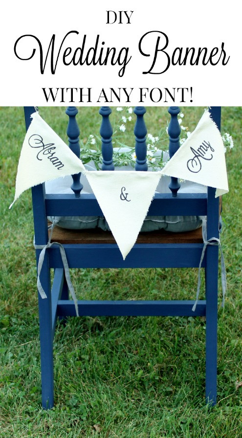 Best ideas about Wedding Banners DIY . Save or Pin How to Make Custom Canvas Wedding Banners Knick of Time Now.