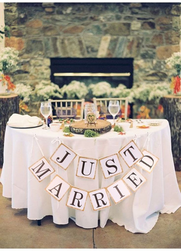 "Best ideas about Wedding Banners DIY . Save or Pin ""Just Married"" Wedding Banner DIY Wedding Shop Now."
