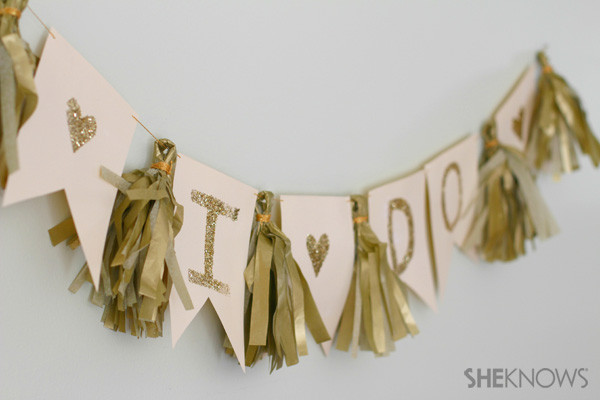 Best ideas about Wedding Banners DIY . Save or Pin DIY wedding banner Now.