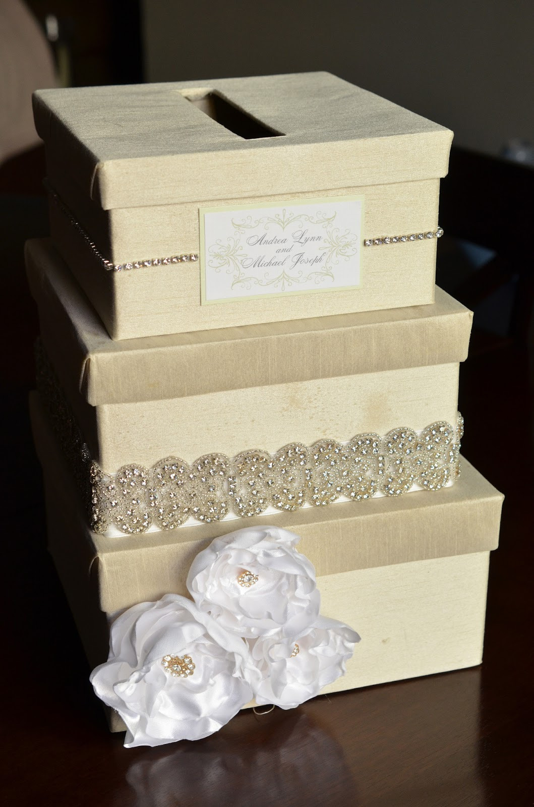 Best ideas about Wedding Card Box DIY . Save or Pin DIY Wedding Card Box Tutorial Andrea Lynn HANDMADE Now.