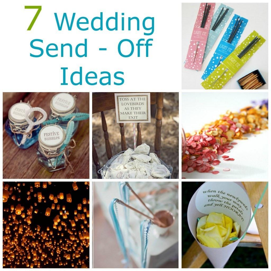 Best ideas about Wedding Craft Idea . Save or Pin 7 Wedding Send f Ideas – DIY Weddings Now.
