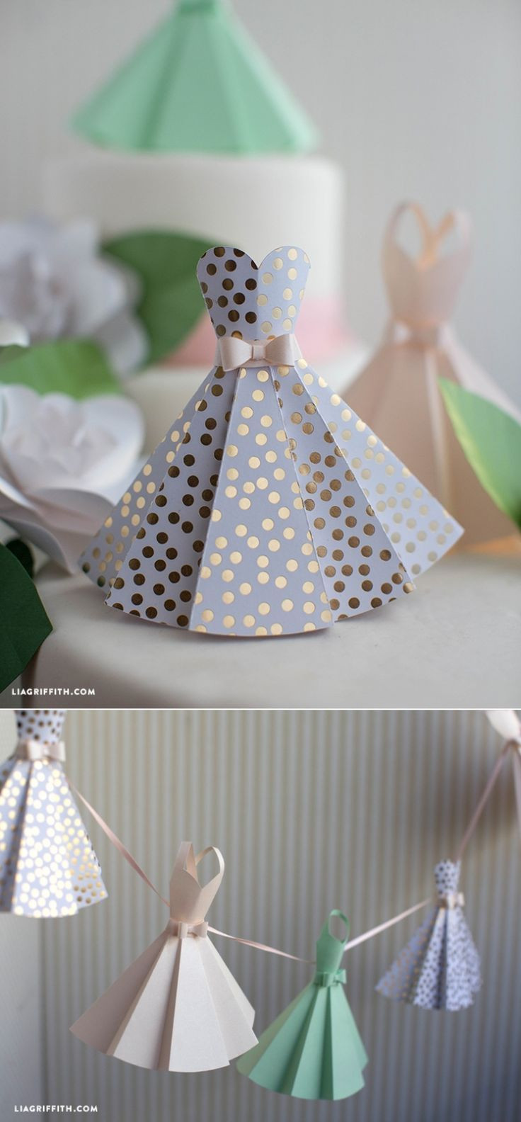 Best ideas about Wedding Craft Ideas . Save or Pin Paper Dress DIY Wedding Decorations Make Paper Now.