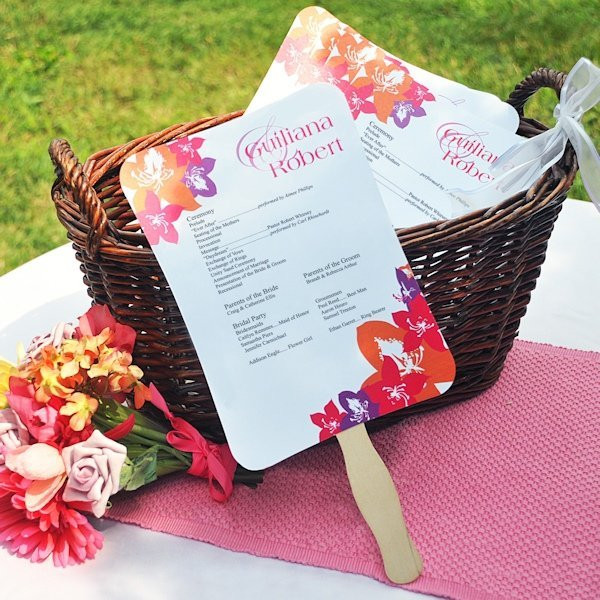 Best ideas about Wedding Fan DIY . Save or Pin DIY Wedding Program Fans Kit with Design Template Now.