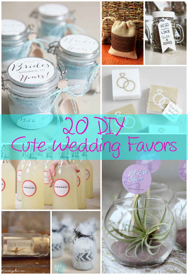 Best ideas about Wedding Favors DIY . Save or Pin 20 DIY Cute Wedding Favors Now.