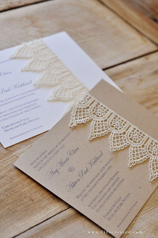 Best ideas about Wedding Invitations DIY . Save or Pin Handmade Wedding Invitations on Pinterest Now.