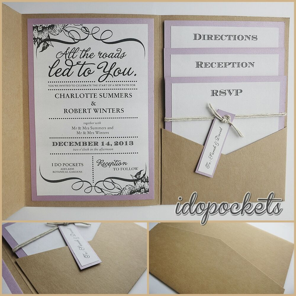Best ideas about Wedding Invitations DIY . Save or Pin KRAFT WEDDING POCKET INVITATIONS DIY POCKETFOLD ENVELOPES Now.