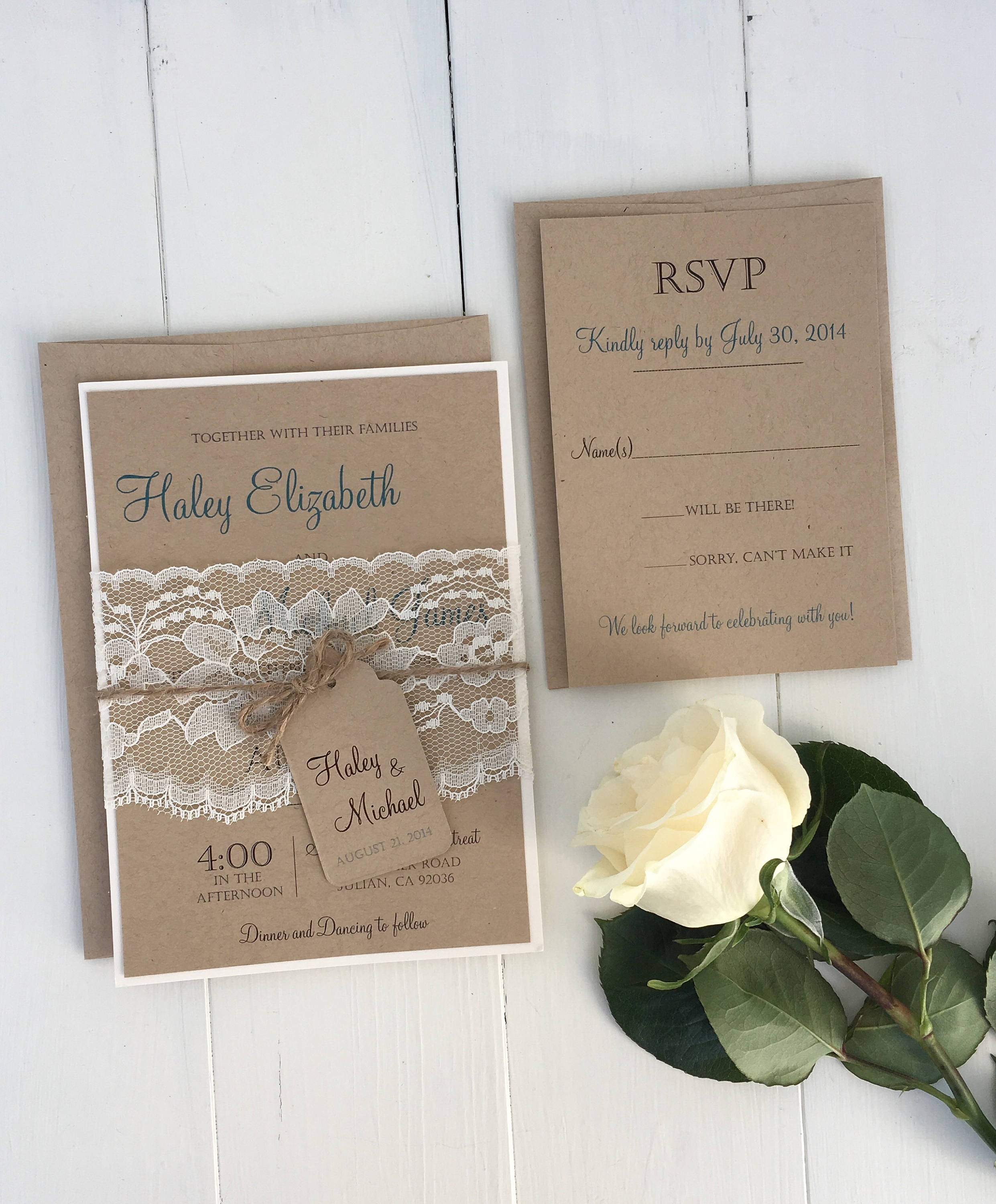 Best ideas about Wedding Invite DIY . Save or Pin DIY Printable invitation Rustic Wedding Invitation Eco Now.