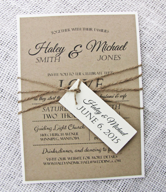 Best ideas about Wedding Invite DIY . Save or Pin Rustic Wedding Invitation Diy Printable Modern Wedding Now.