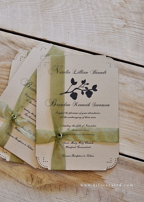 Best ideas about Wedding Invite DIY . Save or Pin Craftaholics Anonymous Now.