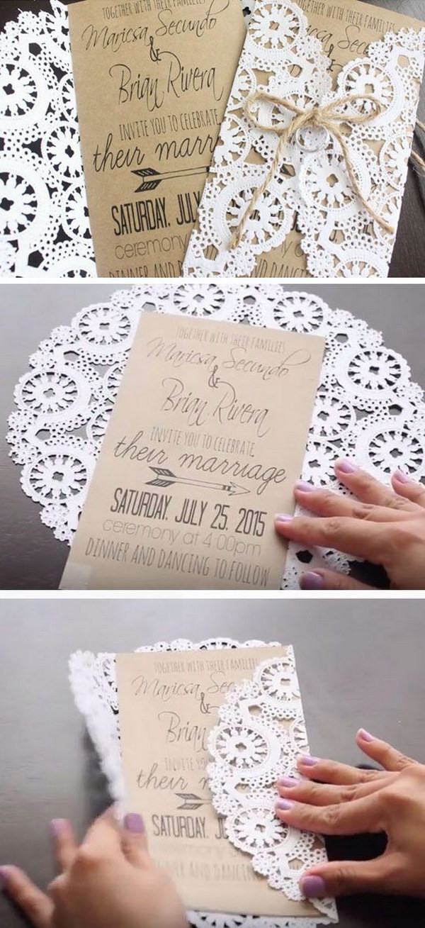 Best ideas about Wedding Invite DIY . Save or Pin 50 Bud Friendly Rustic Real Wedding Ideas Hative Now.