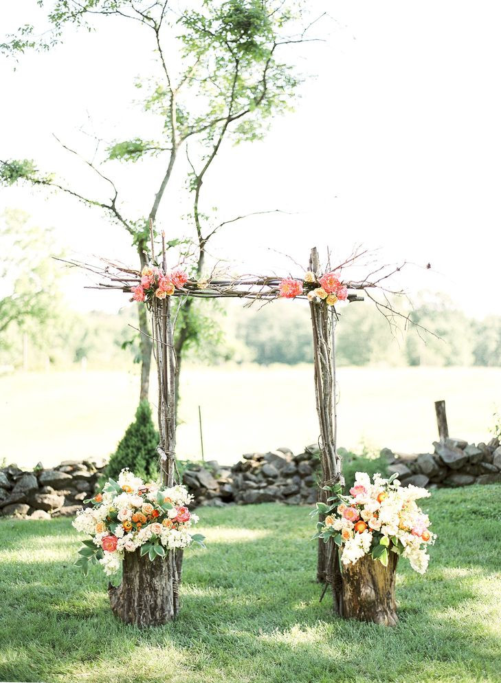 Best ideas about Wedding Trellis DIY . Save or Pin Rustic Tree Branch Ceremony Arch Now.