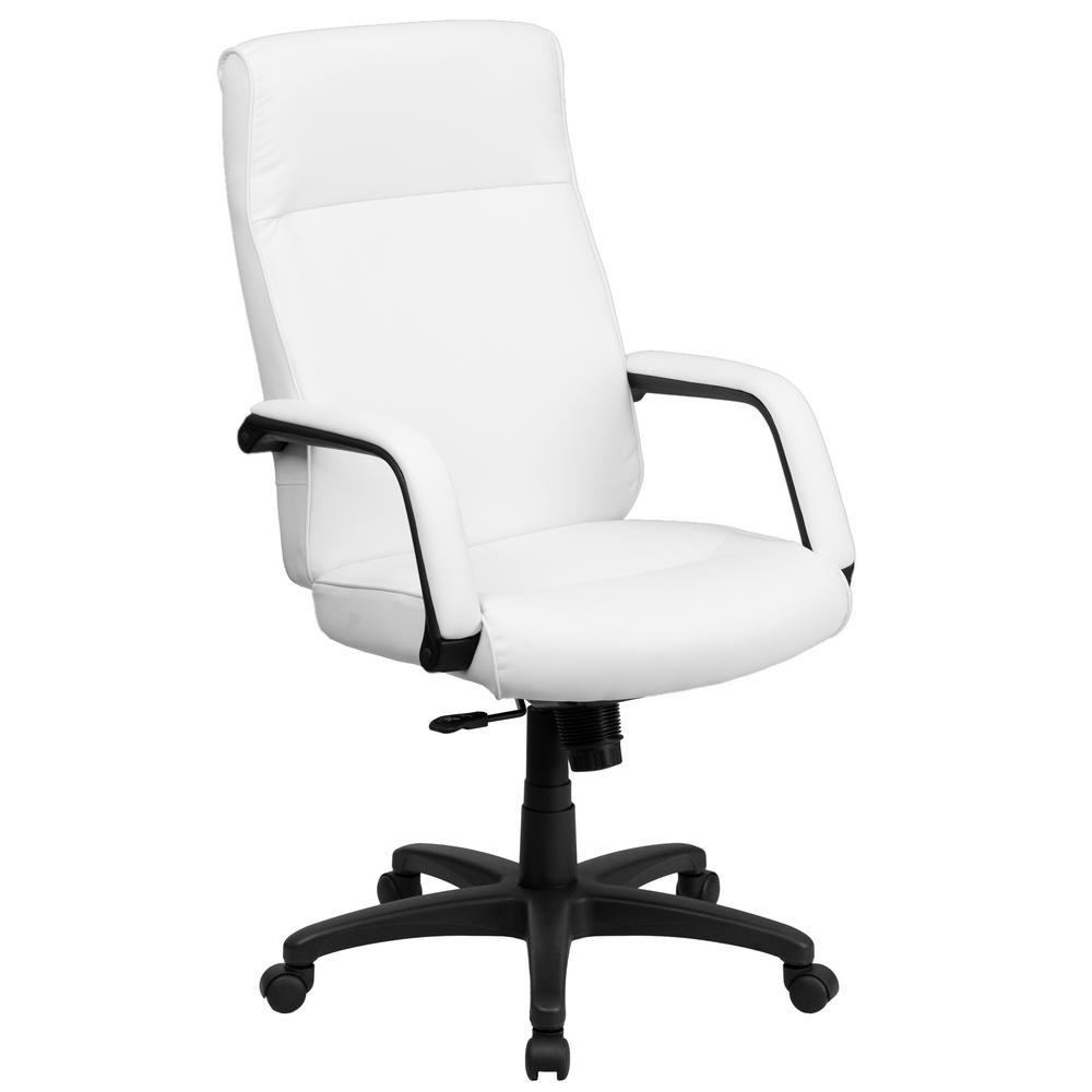 Best ideas about White Desk Chair . Save or Pin Flash Furniture High Back White Leather Executive Swivel Now.