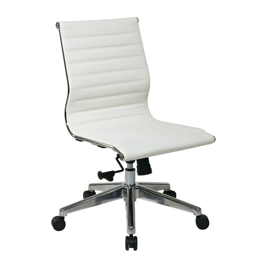 Best ideas about White Desk Chair . Save or Pin White Leather Desk Chair fice Furniture White Leather Now.