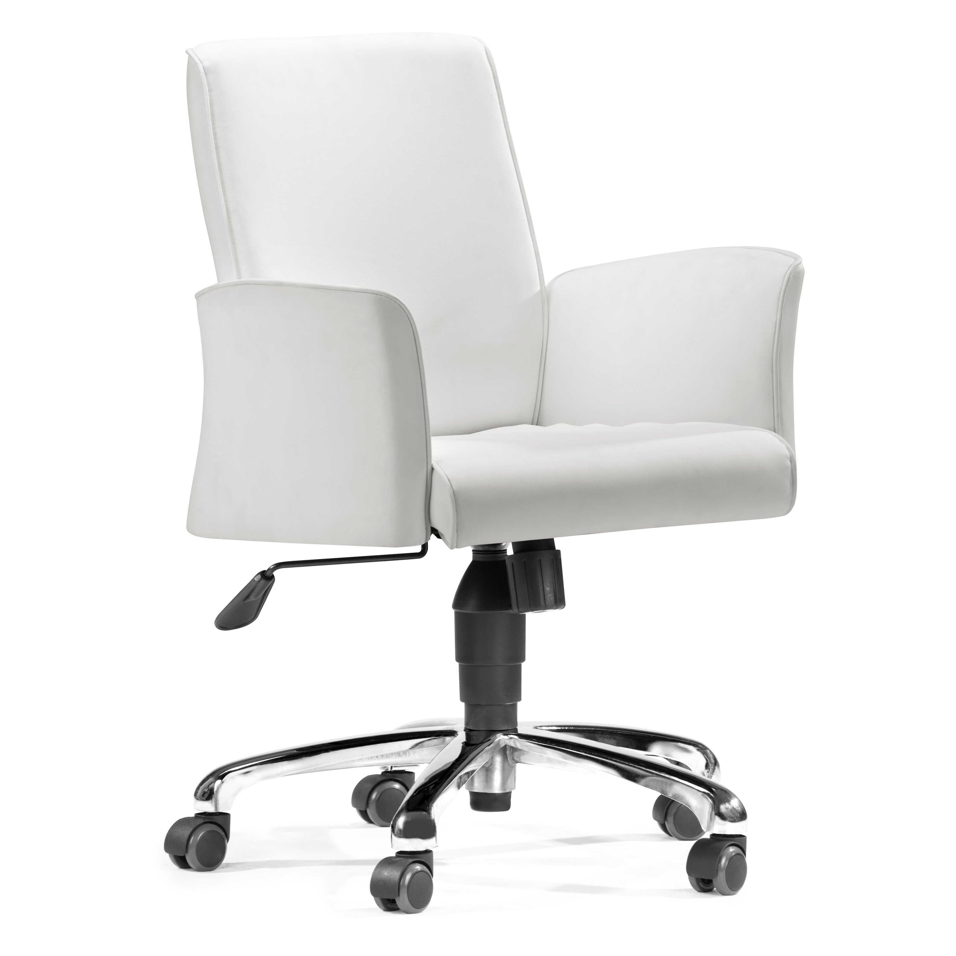 Best ideas about White Desk Chair . Save or Pin Zuo Modern Metro fice Chair White at Hayneedle Now.
