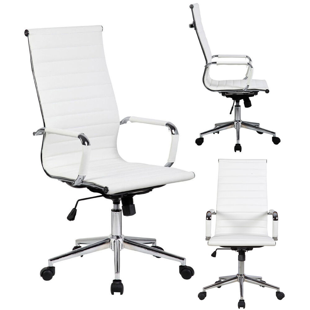 Best ideas about White Desk Chair . Save or Pin Best Modern HighBack White PU Leather fice Desk Chair Now.