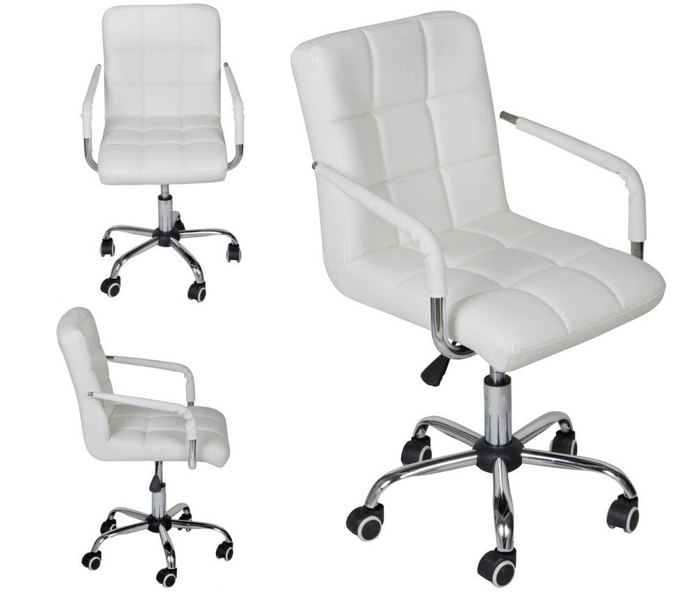 Best ideas about White Desk Chair . Save or Pin White Modern fice Leather Chair Hydraulic Swivel Now.