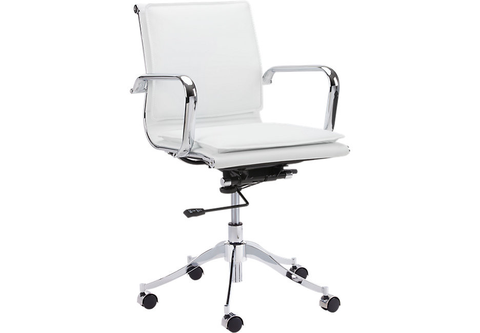 Best ideas about White Desk Chair . Save or Pin Laurian White Desk Chair fice Chairs White Now.
