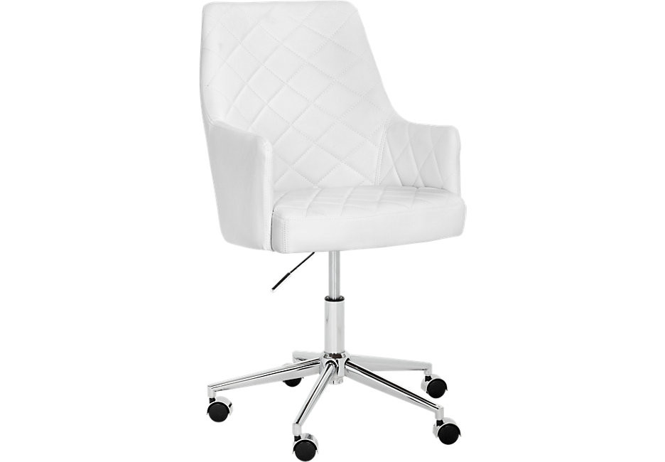 Best ideas about White Desk Chair . Save or Pin Chase Place White Desk Chair fice Chairs White Now.