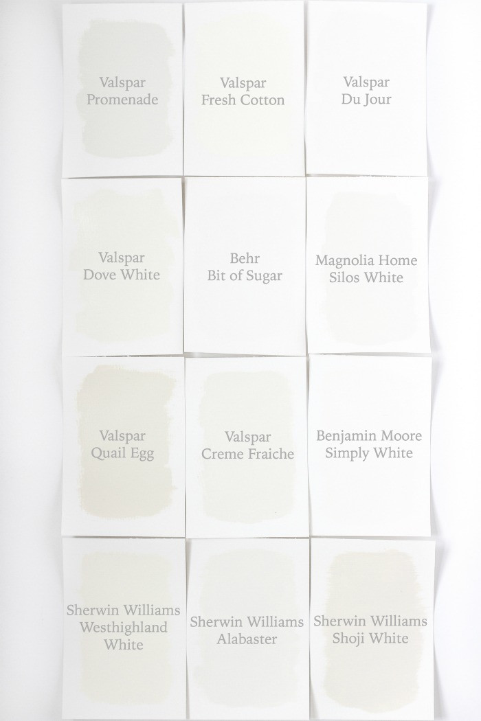 Best ideas about White Paint Colors . Save or Pin Favorite White Paint Colors Love Grows Wild Now.