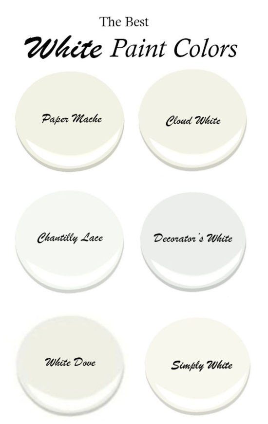 Best ideas about White Paint Colors . Save or Pin The Best White Benjamin Moore Paint Colors Now.