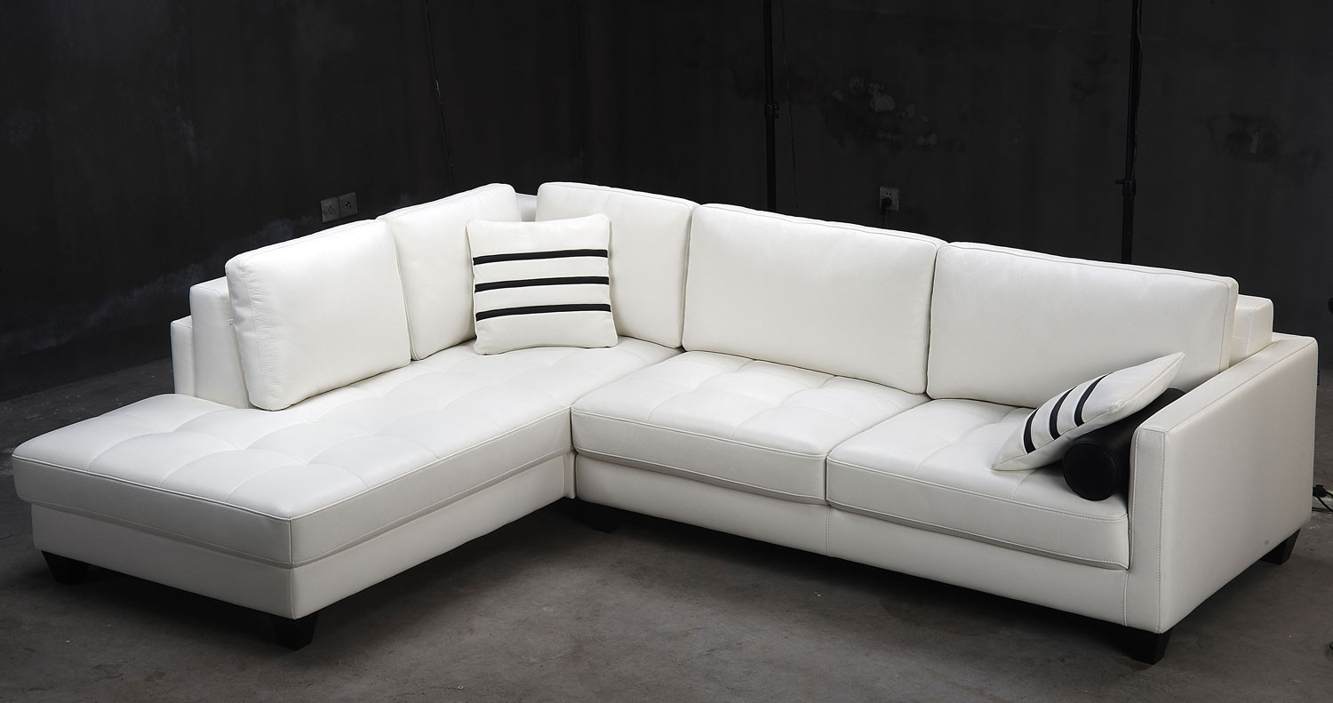 Best ideas about White Sectional Sofa . Save or Pin Contemporary White L Shaped Leather Sectional Sofa Modern Now.