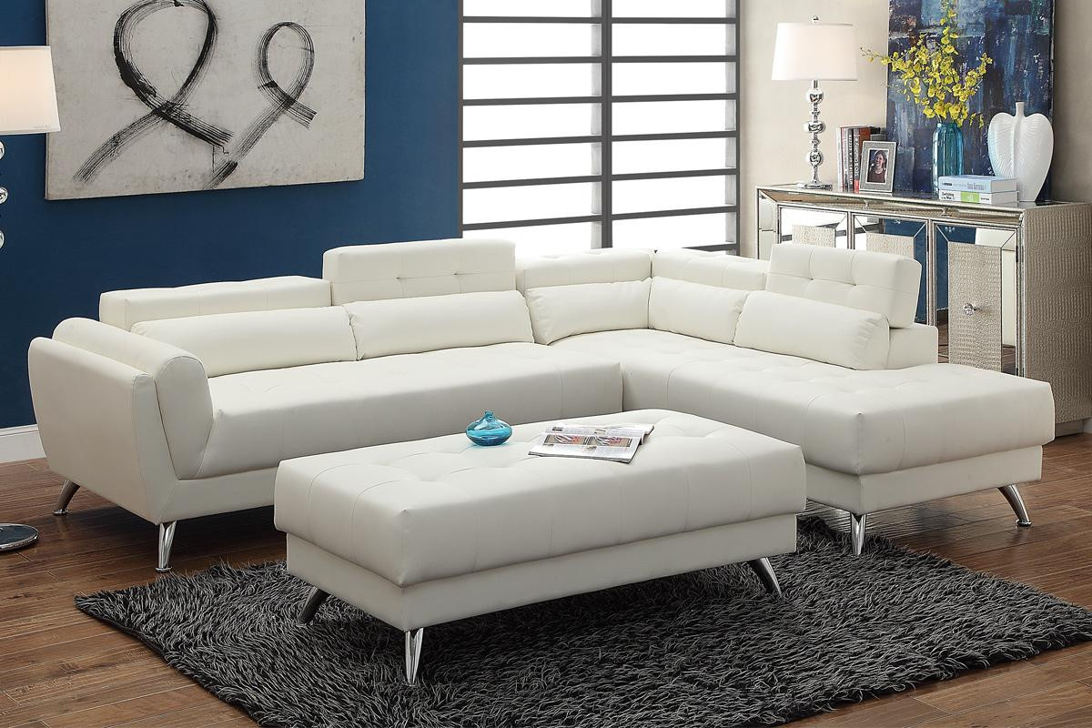 Best ideas about White Sectional Sofa . Save or Pin White Leather Sectional Sofa Steal A Sofa Furniture Now.