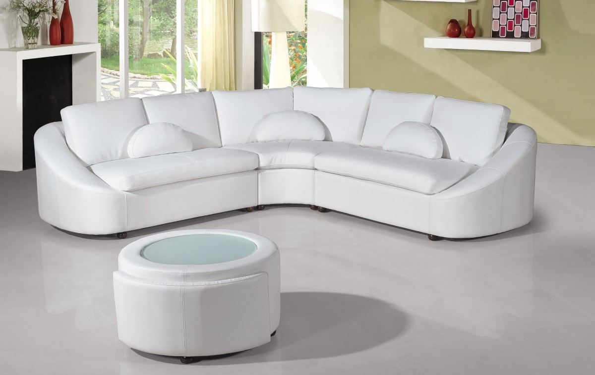Best ideas about White Sectional Sofa . Save or Pin 2224 Modern White Leather Sectional Sofa Now.