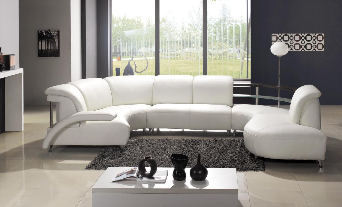 Best ideas about White Sectional Sofa . Save or Pin Modern White Leather Sectional Sofa Now.