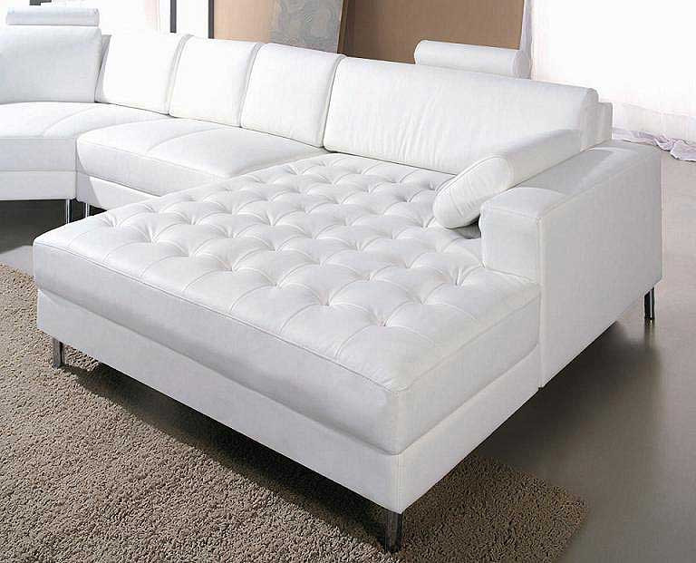 Best ideas about White Sectional Sofa . Save or Pin White leather Snow Sectional sofa Now.