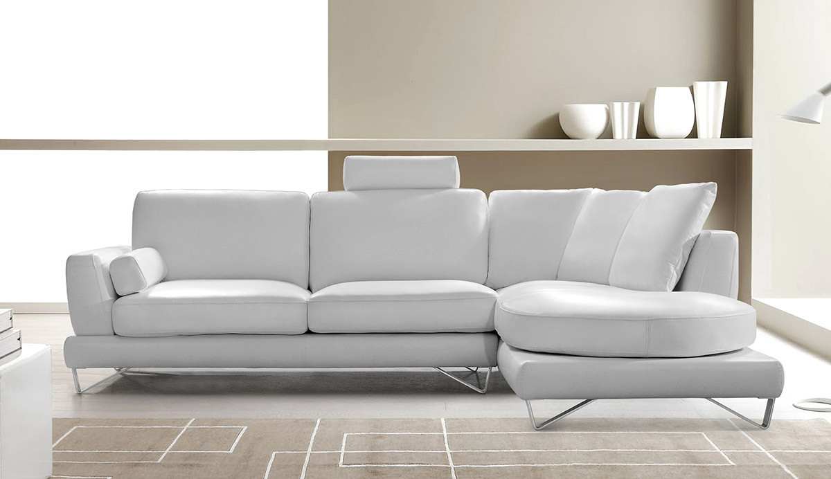 Best ideas about White Sectional Sofa . Save or Pin Mesto Modern Leather White Sectional Sofa Now.