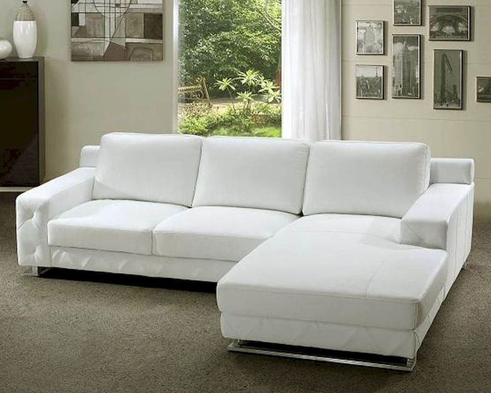 Best ideas about White Sectional Sofa . Save or Pin White Leather Sectional Sofa Set 44L0680 Now.