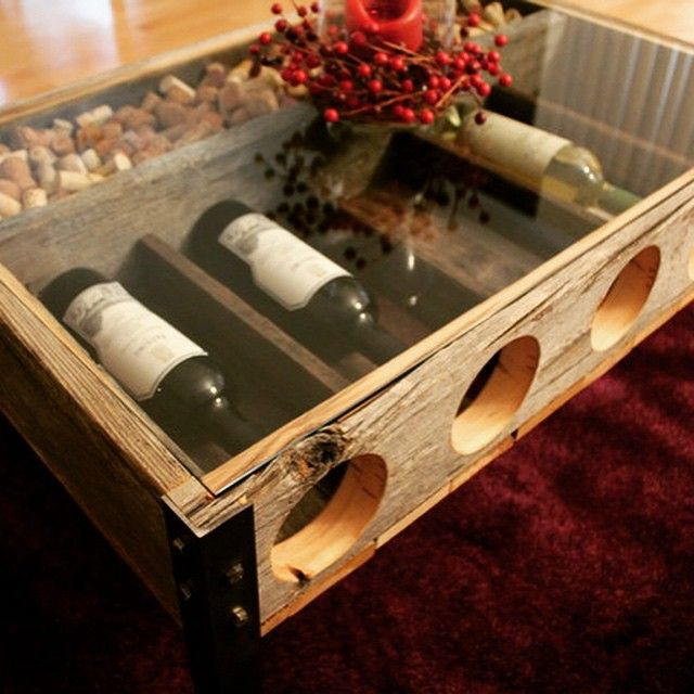 Best ideas about Wine Rack Coffee Table . Save or Pin Awesome wine rack cork holder Coffee Table made by RYOBI Now.