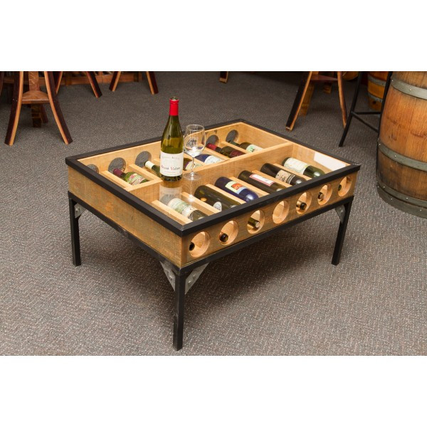 Best ideas about Wine Rack Coffee Table . Save or Pin Glass Top Coffee Table Wine Rack Napa East Wine Country Now.