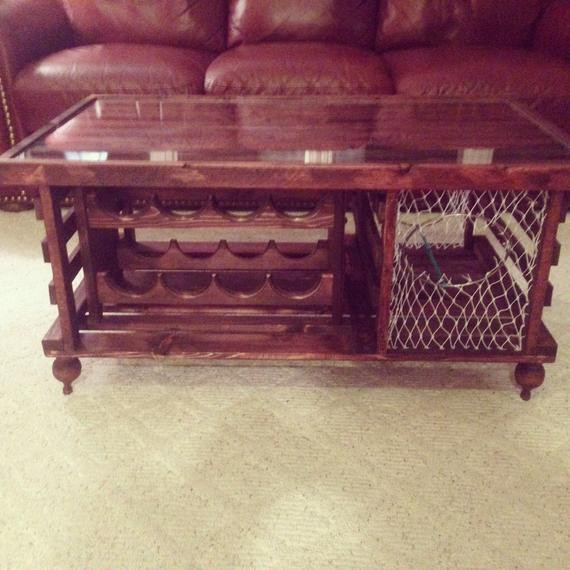 Best ideas about Wine Rack Coffee Table . Save or Pin Lobster Trap Coffee Table WINE RACK Made in by Now.