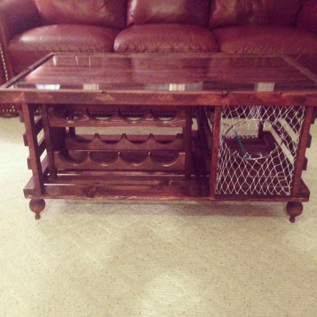 Best ideas about Wine Rack Coffee Table . Save or Pin Lobster Trap Coffee Table WINE RACK Made in USA Now.
