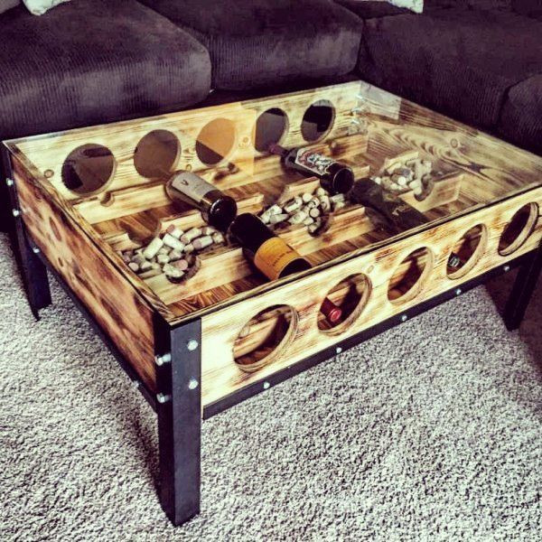 Best ideas about Wine Rack Coffee Table . Save or Pin Wine holder coffee table Home sweet home in 2019 Now.