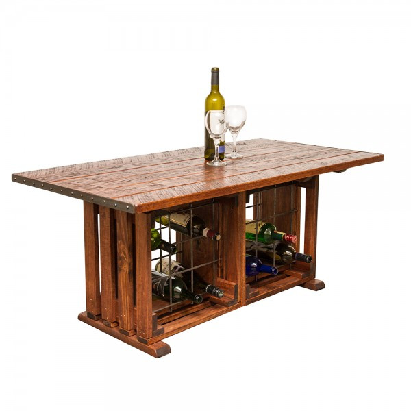 Best ideas about Wine Rack Coffee Table . Save or Pin Coffee Table with Wine Rack Napa East Wine Country Accents Now.