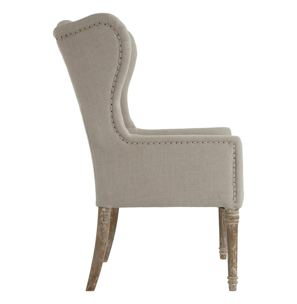 Best ideas about Wingback Dining Chair . Save or Pin Eli French Country Wing Back Dining Occasional Chair Dark Now.